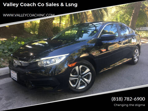 2016 Honda Civic for sale at Valley Coach Co Sales & Lsng in Van Nuys CA