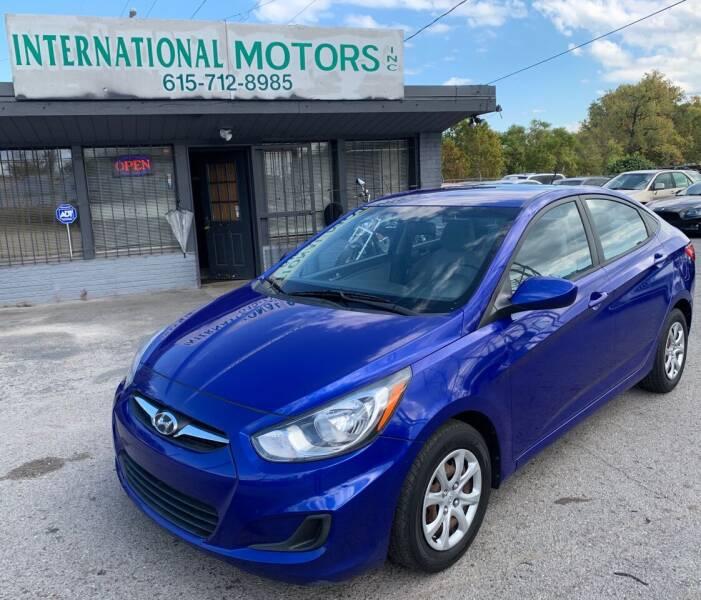 2013 Hyundai Accent for sale at International Motors Inc. in Nashville TN