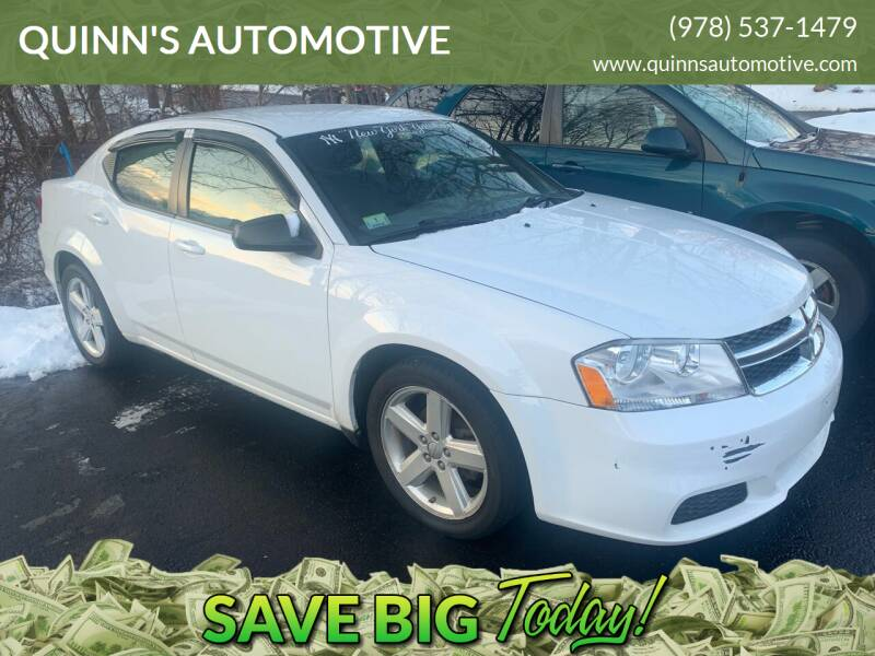 2013 Dodge Avenger for sale at QUINN'S AUTOMOTIVE in Leominster MA