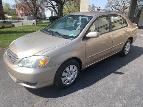 2004 Toyota Corolla for sale at On The Circuit Cars & Trucks in York PA