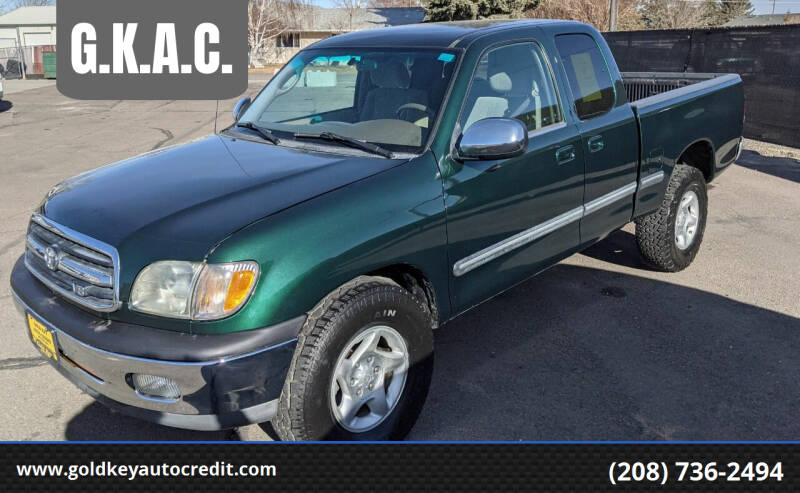 2002 Toyota Tundra for sale at G.K.A.C. in Twin Falls ID