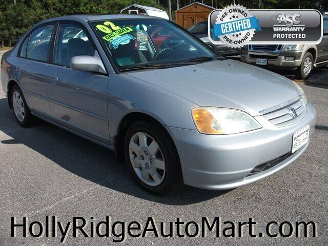 2002 Honda Civic for sale at Holly Ridge Auto Mart in Holly Ridge NC