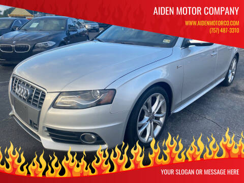 2011 Audi S4 for sale at Aiden Motor Company in Portsmouth VA