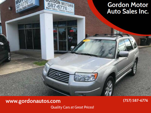 2007 Subaru Forester for sale at Gordon Motor Auto Sales Inc. in Norfolk VA