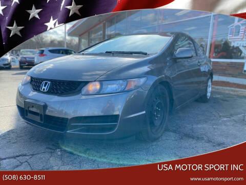2011 Honda Civic for sale at USA Motor Sport inc in Marlborough MA
