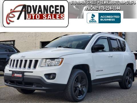 2013 Jeep Compass for sale at Advanced Auto Sales in Tewksbury MA
