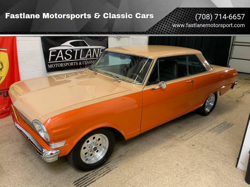 1963 Chevrolet Nova for sale at Fastlane Motorsports & Classic Cars in Addison IL