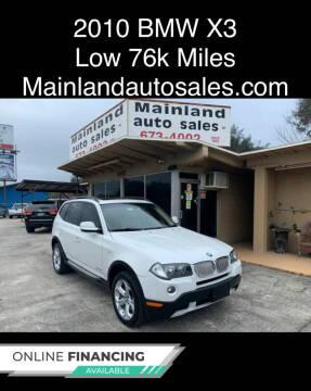 2010 BMW X3 for sale at Mainland Auto Sales Inc in Daytona Beach FL