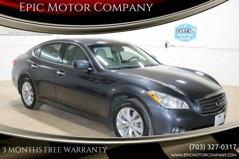 2011 Infiniti M37 for sale at Epic Motor Company in Chantilly VA