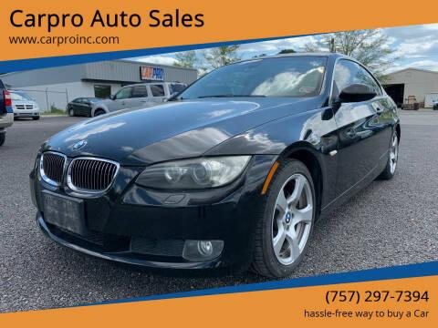 2007 BMW 3 Series for sale at Carpro Auto Sales in Chesapeake VA