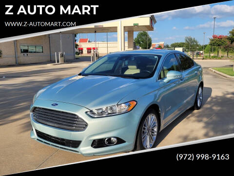 2013 Ford Fusion Hybrid for sale at Z AUTO MART in Lewisville TX