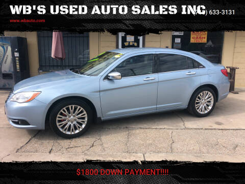 2012 Chrysler 200 for sale at WB'S USED AUTO SALES INC in Houston TX
