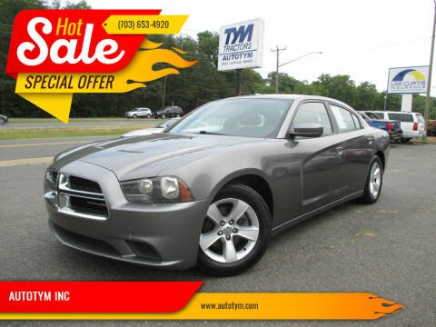 2012 Dodge Charger for sale at AUTOTYM INC in Fredericksburg VA