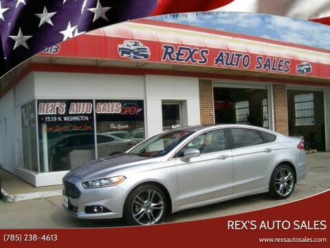 2013 Ford Fusion for sale at Rex's Auto Sales in Junction City KS