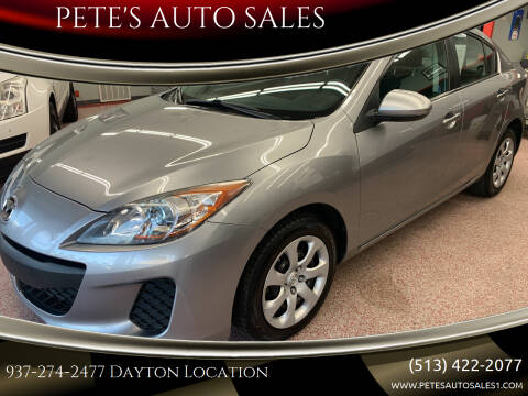 2013 Mazda MAZDA3 for sale at PETE'S AUTO SALES - Dayton in Dayton OH