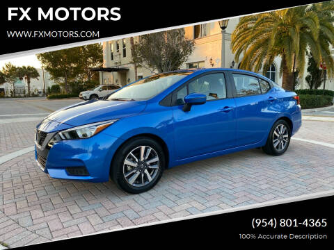 2020 Nissan Versa for sale at FX MOTORS in Margate FL