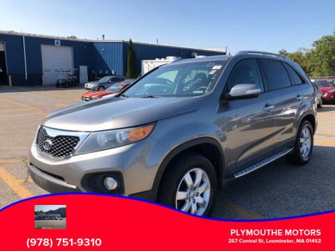 2012 Kia Sorento for sale at Plymouthe Motors in Leominster MA