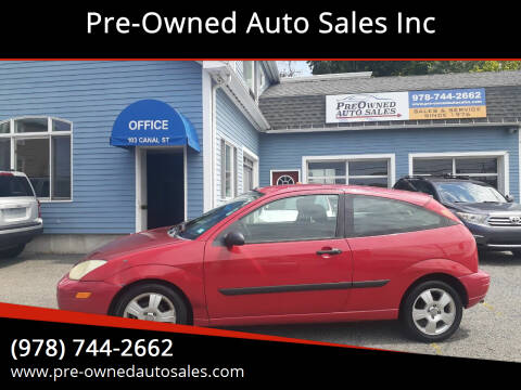 2003 Ford Focus for sale at Pre-Owned Auto Sales Inc in Salem MA