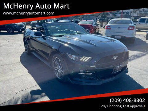 2016 Ford Mustang for sale at McHenry Auto Mart in Turlock CA