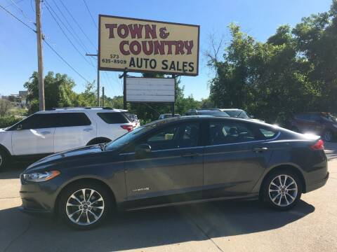 2017 Ford Fusion Hybrid for sale at Town and Country Auto Sales in Jefferson City MO