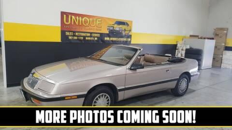 1989 Chrysler Le Baron for sale at UNIQUE SPECIALTY & CLASSICS in Mankato MN