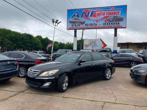 2012 Hyundai Genesis for sale at ANF AUTO FINANCE in Houston TX