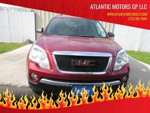 2009 GMC Acadia for sale at ATLANTIC MOTORS GP LLC in Houston TX