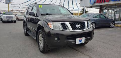 2011 Nissan Pathfinder for sale at I-80 Auto Sales in Hazel Crest IL