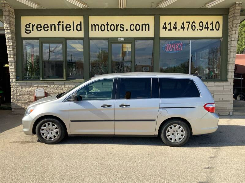 2007 Honda Odyssey for sale at GREENFIELD MOTORS in Milwaukee WI