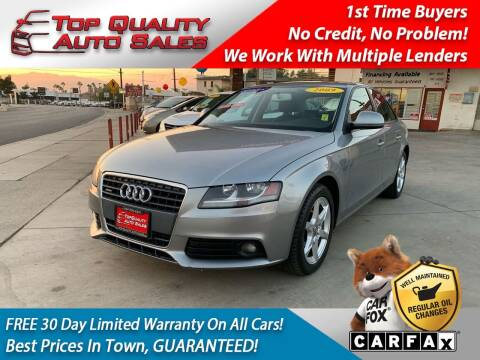 2009 Audi A4 for sale at Top Quality Auto Sales in Redlands CA