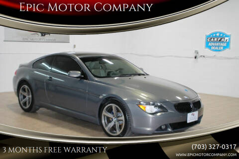 2007 BMW 6 Series for sale at Epic Motor Company in Chantilly VA