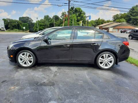2014 Chevrolet Cruze for sale at G AND J MOTORS in Elkin NC