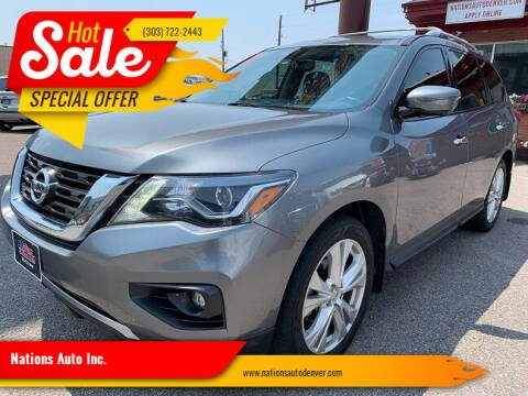 2018 Nissan Pathfinder for sale at Nations Auto Inc. in Denver CO