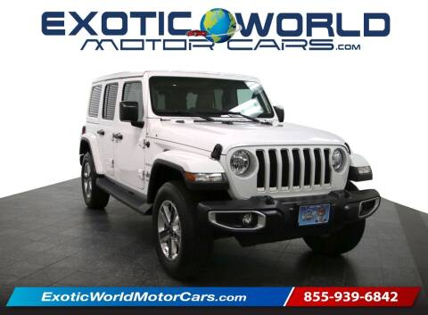 2018 Jeep Wrangler Unlimited for sale at Exotic World Motor Cars in Addison TX