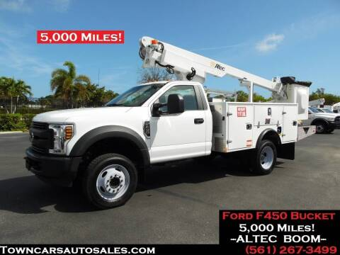 2018 Ford F-450 Super Duty for sale at Town Cars Auto Sales in West Palm Beach FL