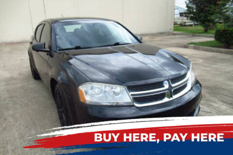 2014 Dodge Avenger for sale at AUTO VALUE FINANCE INC in Stafford TX