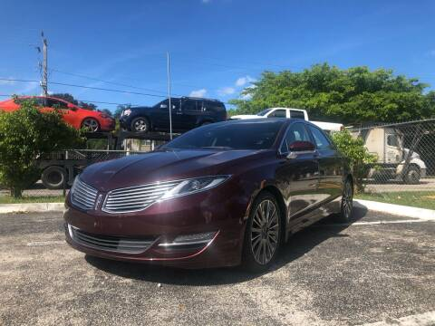 2013 Lincoln MKZ for sale at Motor Trendz Miami in Hollywood FL