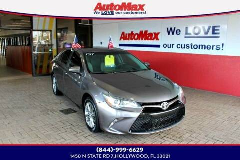 2016 Toyota Camry for sale at Auto Max in Hollywood FL