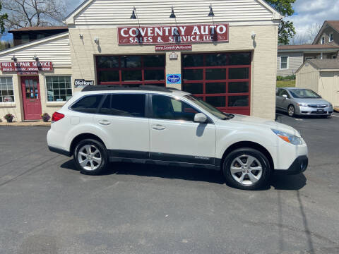 2013 Subaru Outback for sale at COVENTRY AUTO SALES in Coventry CT