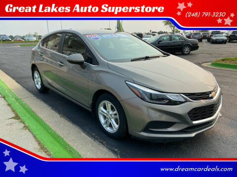 2018 Chevrolet Cruze for sale at Great Lakes Auto Superstore in Waterford Township MI