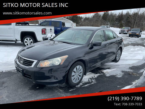 2010 Honda Accord for sale at SITKO MOTOR SALES INC in Cedar Lake IN