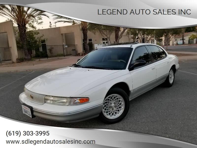 1997 Chrysler LHS for sale at Legend Auto Sales Inc in Lemon Grove CA