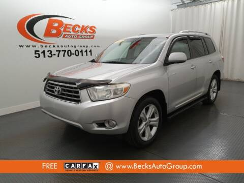 2008 Toyota Highlander for sale at Becks Auto Group in Mason OH