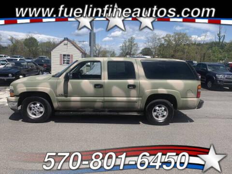 2000 Chevrolet Suburban for sale at FUELIN FINE AUTO SALES INC in Saylorsburg PA