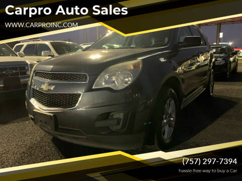 2010 Chevrolet Equinox for sale at Carpro Auto Sales in Chesapeake VA