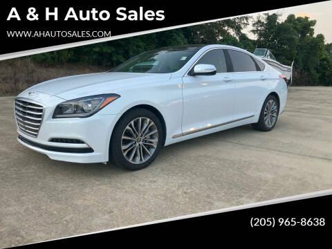 2015 Hyundai Genesis for sale at A & H Auto Sales in Clanton AL