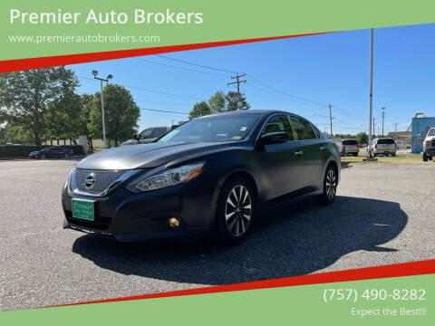 2017 Nissan Altima for sale at Premier Auto Brokers in Virginia Beach VA