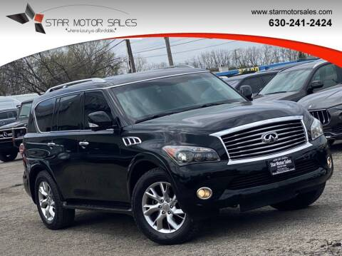 2012 Infiniti QX56 for sale at Star Motor Sales in Downers Grove IL