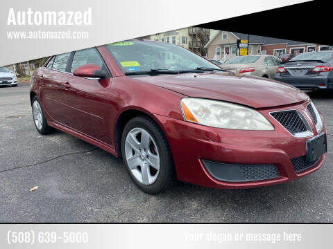 2010 Pontiac G6 for sale at Automazed in Attleboro MA