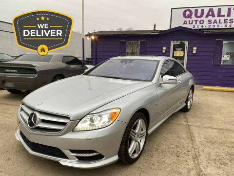 2012 Mercedes-Benz CL-Class for sale at Quality Auto Sales LLC in Garland TX